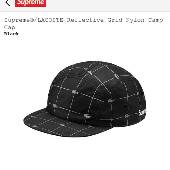 234e66bb032 Supreme Lacoste collab nylon reflective hat